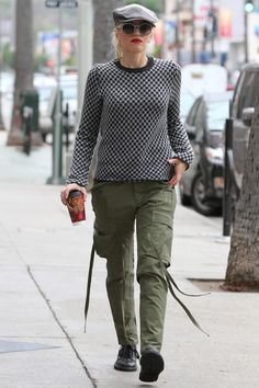 Gwen Stefani in Junya Watanabe and Comme des Garcons pants