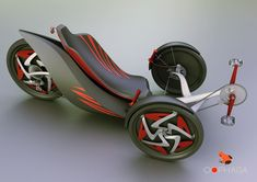 This is the wildest recumbent trike you will ever see in all your days. It's got such a fury that you'll probably rocket off