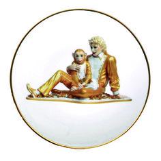 - Jeff Koons plate of ✨Michael Jackson & Bubbles✨