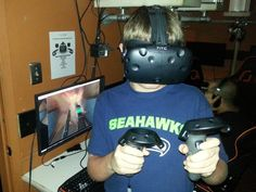 Try Virtual Reality Gaming in Austin at Game Republik  Interested in trying virtual reality in Austin? Game Republik now rents the HTC Vive and the Oculus Rift so you can try VR! It's a bit of a dive, but totally worth it if you or your kids like video gaming at all.
