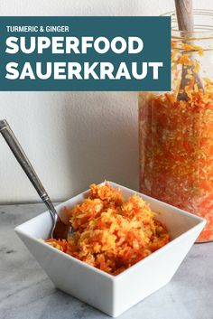 Ginger and Turmeric Superfood Sauerkraut!