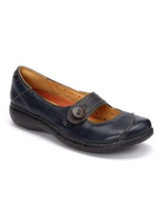 Take a look at this Navy Poem Mary Jane - Women by Clarks on #zulily today!