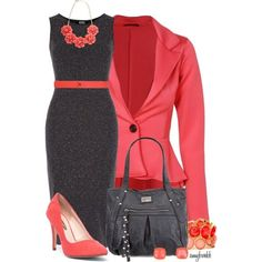 Beautiful and professional #job #interview #outfit. Plus does double duty for after work events. For job searching, application preparation, resume tips.