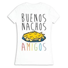 Show off your love of the Spanish language with this funny linguistic humor, Spanish pun, nacho lover's shirt! Now you can accurately let your amigos know how much you love nachos!