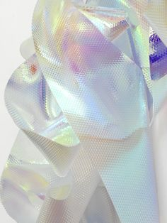 iridescent | mother-of-pearl | gleaming | shimmering | metallic rainbow | shine |