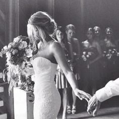 Capturing the moment of the father giving the bride away... SO IN LOVE