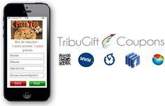 Avec TribuGift Coupons, fidèlisez vos clients et gagnez en d'autres, affichez vos coupons  sur votre site internet, votre page Facebook, vos clients les reçoivent sur leur mobile ou par email et peuvent en faire profiter leurs amis...
