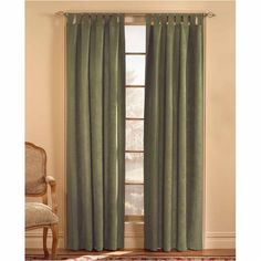 Microsuede Tab-Top Curtain Panel (3.110 RUB) ❤ liked on Polyvore featuring home, home decor, window treatments, curtains, tabtop curtains, tab top window panels, tab top curtain panels, microsuede curtains and tab top draperies
