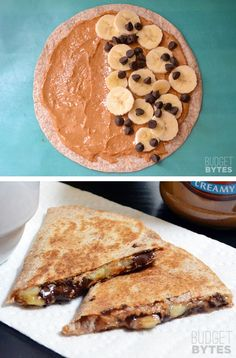 #2. Peanut Butter Banana Quesadillas -- 30 Super Fun Breakfast Ideas Worth Waking Up For | Listotic