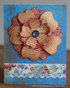 Corine's Gallery: Hero Arts - Newspaper Flower