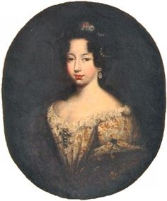Anne Marie d'Orléans, future Duchess of Savoy and Queen of Sardinia (1669-1717), youngest daughter of Monsieur, Philippe d'Orleans and Henriette-Ann of England, 1684 by Ferdinand Elle (1648-1717)