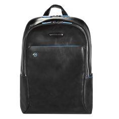 Piquadro Blue Square Laptoprucksack mit gepolstertem Tablet-Fach black