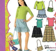 FREE USA Shipping Simplicity 4650 Girls Lizzie by HeartvilleRoad, $3.99