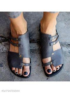 Liso Sombrero Zapatos De Punta Abierta Casual - berrylook.com Zapatos De  Punta 227e815efeb7