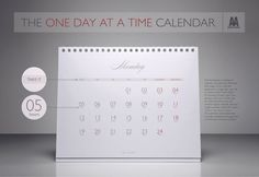 "Alcoholics Anonymous: The ""One Day At A Time"" Calendar"