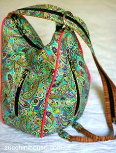Еще одна сумка. Эксперимент с фасоном. / Yet another bag. Experiment with style. | Домик маленького Цукиня