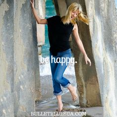 #BeHappy #quoteoftheday #BulletBlues #jeans #fashion #boutique #madeinUSA #PompanoPier #Beach #southflorida http://Bulletbluesca.com - free shipping #goodjeans #womensjeans #menswear