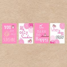 Owl Nursery Art DIY Printable You Are My by DecorableDesigns