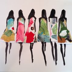 Fashion illustration by Donald Robertson, head of creative development for Bobbi Brown. Via http://sketch42blog.com.