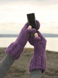 Strik vanter - nu med plads til sms