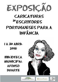 Exposição | Caricaturas de Escritores Portugueses para a Infância - Biblioteca Municipal de Montemor-o-Velho - Notícias / Eventos - Cardápio