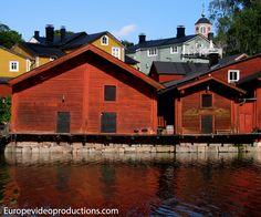 El casco antiguo de Porvoo en el sur de Finlandia