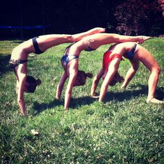 Handstand tricks(: with my best friends