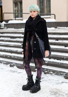 "Annika - Hel Looks - Street Style from Helsinki - ""My style can be described as alien refugee."""