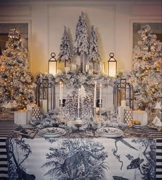 Our Christmas table proposal for magazine ❄️❄️
