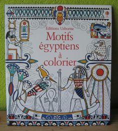 Motifs égyptiens à colorier Emily Beevers Editions Usborne