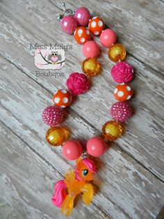 Pink and orange My Little Pony Girls Chunky by MissMillysBoutique, $19.00