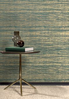 Eri inspired by an open weave and applied on a precious high-gloss foil, for a pronounced and exclusive look. Arte Wallcovering, Noble Metal, Golden Background, Textile Patterns, Textiles, Vinyl Wallpaper, Silk Road, Open Weave, Exotic Birds