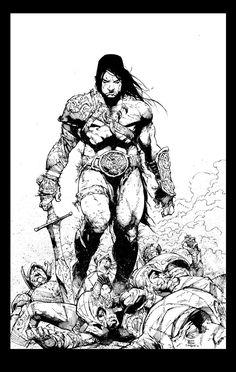 Conan Inks by devgear on deviantART