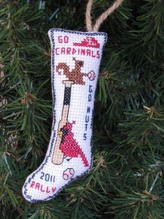 Cross Stitch Christmas Ornament Patterns. http://www.azcrossstitch.com/rally-cardinals-2011.html