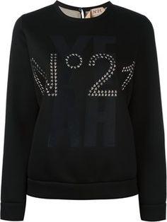 studded logo sweatshirt Nº21