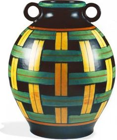 Gio Ponti For Richard Ginori 1891 1979 The Jockeys Vase
