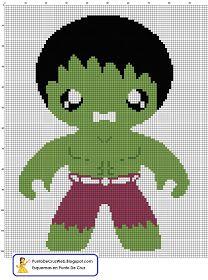 PDF en punto de cruz de Hulk