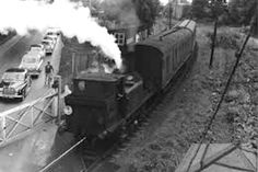 The long-gone but well remembered Hayling Billy prepares to leave Langstone Halt heading for Havant. Hms Warrior, Southern Trains, Portsmouth Harbour, Severn Valley, Model Village, Old Train Station, The Blitz, British Rail, Modern Pictures