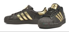 ADIDAS SUPERSTAR BLACK AND GOLD on The Hunt