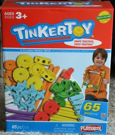 TINKERTOY 65 Piece Essential Building Set Review and Giveaway!