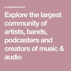 Explore te largest community of artists, bands, podcasters and creators of music & audio Listen To Music Online, Listen To Free Music, Smooth Jazz, Marshmello Alone, Bilal Hassani, Panic! At The Disco, Trance, Listening To Music, Singing