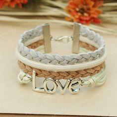 DIY Bracelet Inspiration: Love Bracelet-Love fashion bracelet
