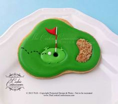 The Cookie Connoisseur Golf Cookies, Camping Cookies, Iced Cookies, Fun Cookies, Cookie Desserts, Cupcake Cookies, Cookie Recipes, Decorated Cookies, Cookie Ideas