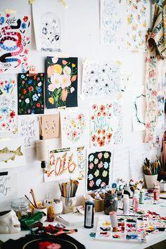 studio snaps // shannon kirsten illustration – Creative Home Office Design Decoration Inspiration, Workspace Inspiration, Room Inspiration, Deco Studio, Art Studio Decor, Creative Studio, Creative Skills, Art Studios, Gallery Wall