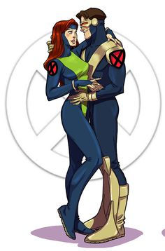 """""""Jotts"""" - an signed print of Jean Grey and Cyclops from X-Men:Evolution. The Couples Series Marvel Comics, Marvel E Dc, Marvel Films, Marvel Heroes, Marvel Avengers, X Men Evolution, Couple Poses Drawing, Couple Posing, Jean Grey Xmen"""