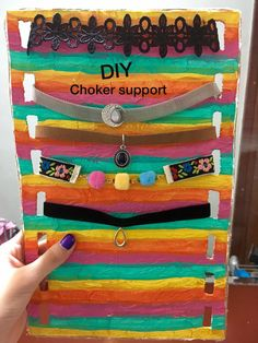 DIY super easy choker support with folders 😍😍