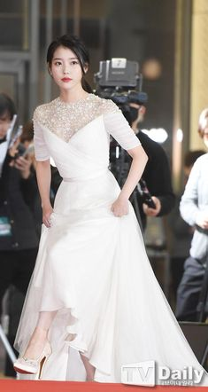 Acquire amazing weddings tips and hints. Iu Fashion, Korean Fashion, Korean Celebrities, Celebs, Prom Dresses, Formal Dresses, Wedding Dresses, Bride Dresses, Chica Cool