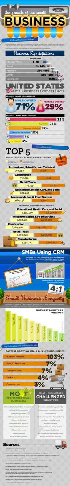 The growth of the small business #infographic