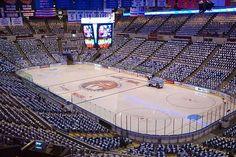 Inside Nassau Veterans Memorial Coliseum.