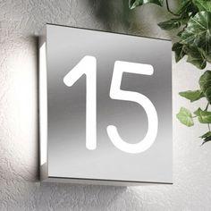 Eclairage extérieur avec numéro de maison - Réf. AQUA MATTEO